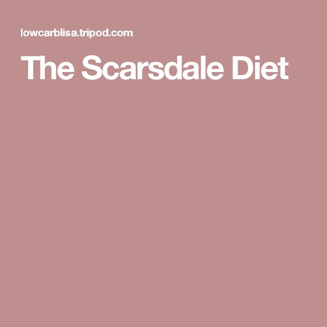 The Scarsdale Diet