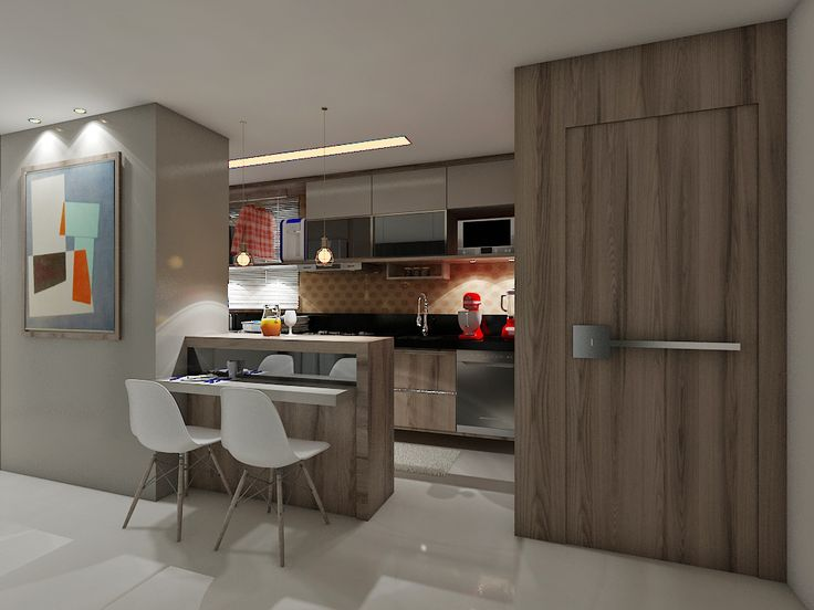 Buscando conciliar os espaços entre a cozinha e a sala de jantar.