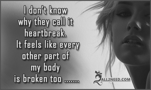 Quotes Pictures about Broken Hearts