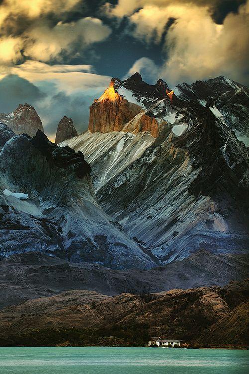 Estancia below Los Cuernos (Chile) by marion faria