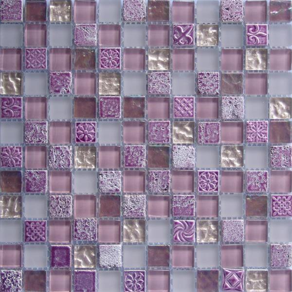decorative mosaic Tile | Quality glass mix stone mosaic tiles for interior decorative for sale