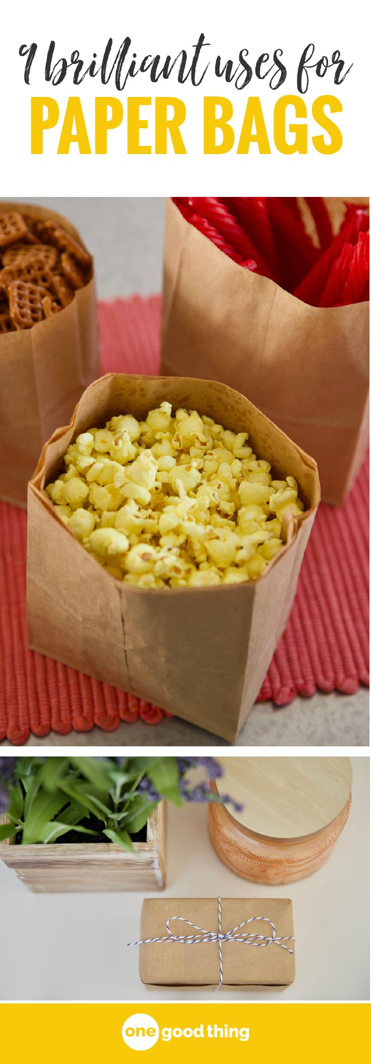 Today I'm sharing 9 of my very favorite ways to put use brown paper bags. Learn how to use a paper bag to ripen fruit, make popcorn, package gifts, and more!