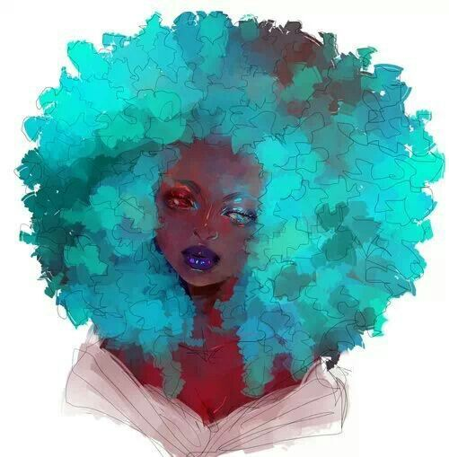 Afro. Black beauty. Natural Hair
