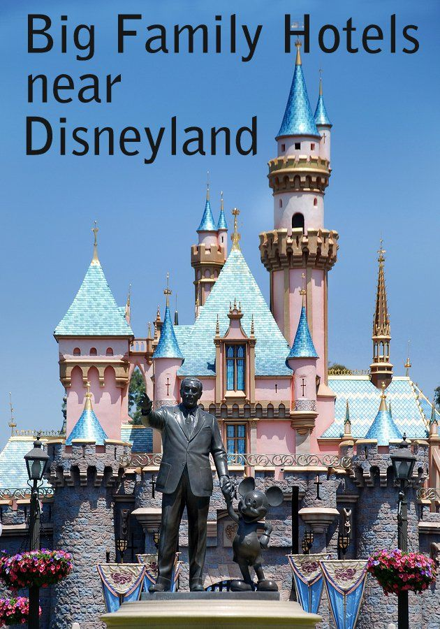 Planning a Disneyland vacation for your big family? We list 87 hotels within 20 miles of Disneyland (click to view them all) which include several Disney owned properties. Here we highlight 6 big family friendly hotels closest to Disney that are not Disney owned. All of them can sleep your family of