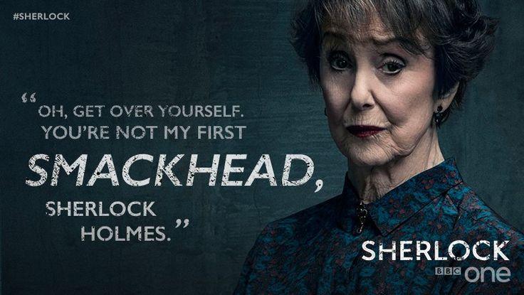 Sassy Mrs Hudson = amazing. #Sherlock
