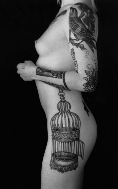 gorgeous: Birds Cage Tattoo'S, Side Tattoo'S, Girls Ink, Awesome Tattoo'S, Tattoo'S Culture, Birdcages Tattoo'S, Tattoo'S Blog, Tattoo'S Ink, Records Tattoo'S