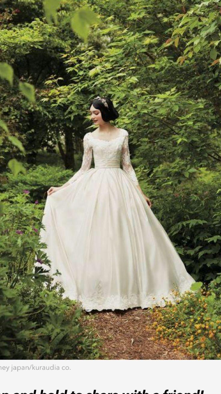 Snow White Inspired Wedding Dress