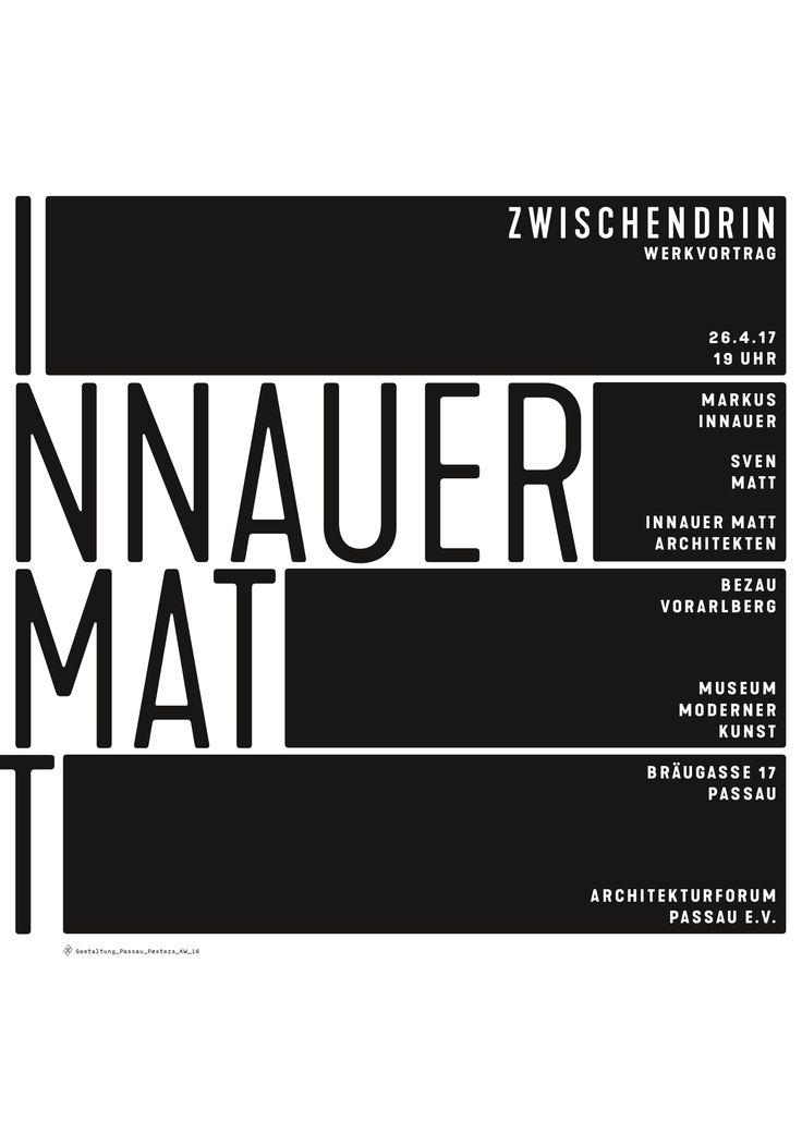 Architekten Passau passau poster kw 16 innauer matt architekten zwischendrin