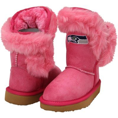 Pink Seahawks boots