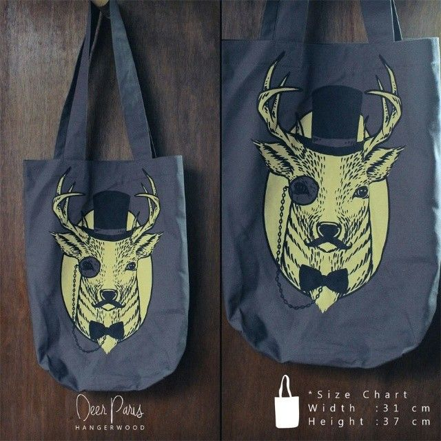 Hangerwood Bag Deer Paris