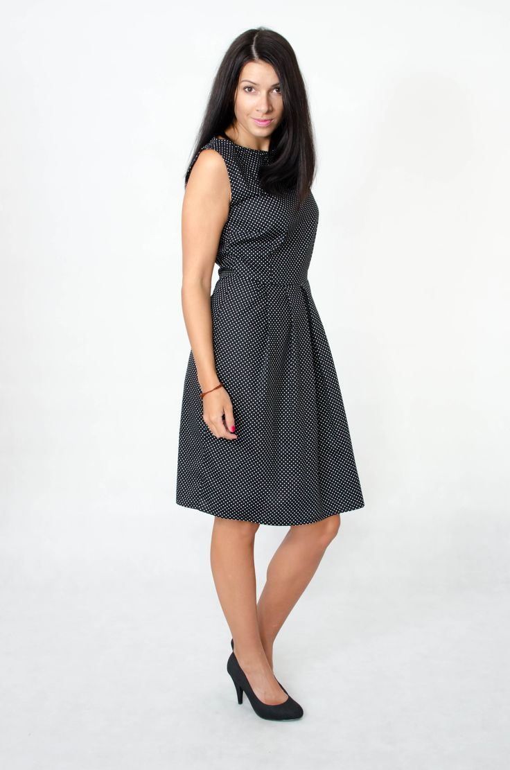 Clear women dress with dots. More here => www.kadunda.cz