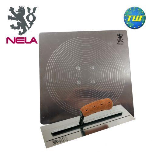 """NELA SuperFLEX Trowel 16 Inch with 16"""" Aluminium Plastering Hawk http://www.twwholesale.co.uk/product.php/section/10327/sn/NELA-16-Super-Trowel-Hawk"""