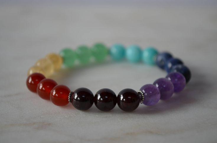 Excited to share the latest addition to my #etsy shop: Chakra Gemstone Bracelet. Stretch Bracelet. Yoga Bracelet.