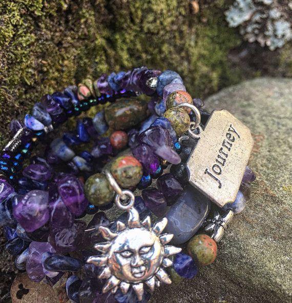 Journey into Serenity: Five Wrap Memory Wire Bracelet