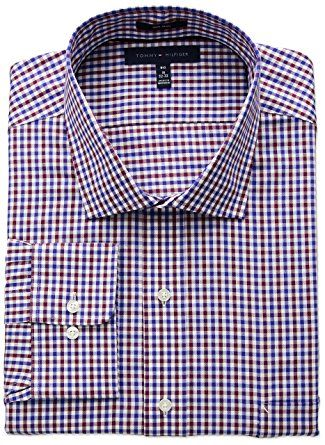 fa22a9880 Tommy Hilfiger Men's Big and Tall Non Iron Big Fit Check Spread Collar  Dress Shirt Review