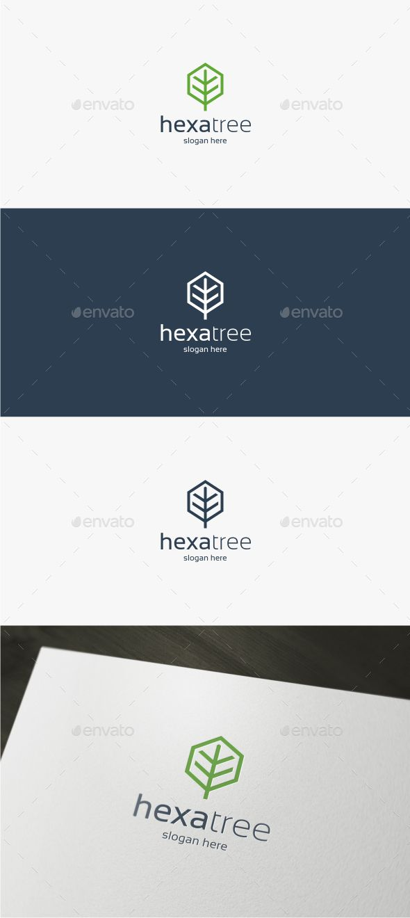 Hexa Tree - Logo Template Vector EPS, AI. Download here: http://graphicriver.net/item/hexa-tree-logo-template/13833688?ref=ksioks