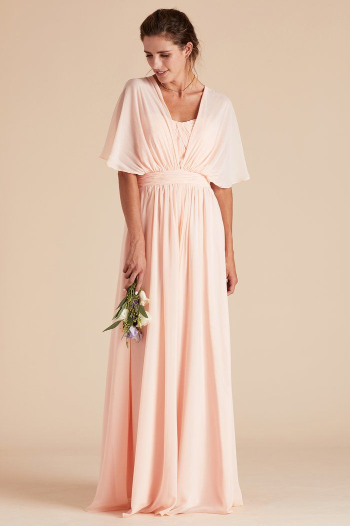 734508972fa Birdy Grey Gracie Chiffon Convertible Bridesmaid Dress in Blush Pink - How  To Tie Convertible Bridesmaid Dress with Butterfly Sleeves under  100