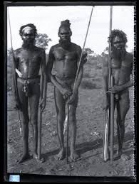 Three men of Warramunga Tribe Tennants Creek, Spencer and Gillen