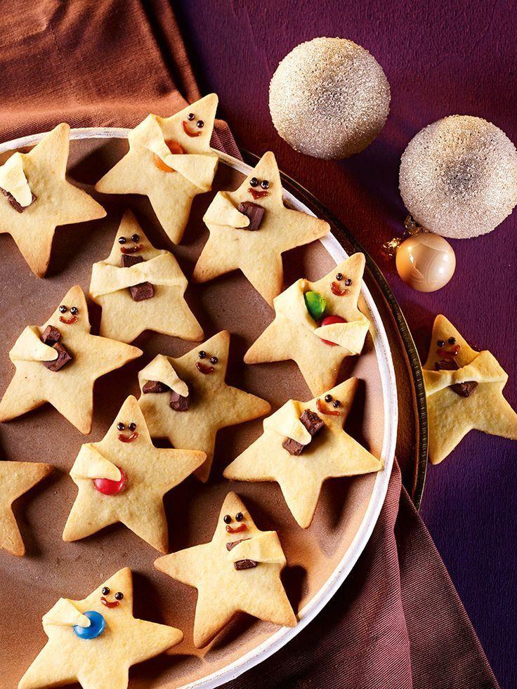 Niedliche Knetteigsterne mit Orangennote (Dessert Recipes Christmas)