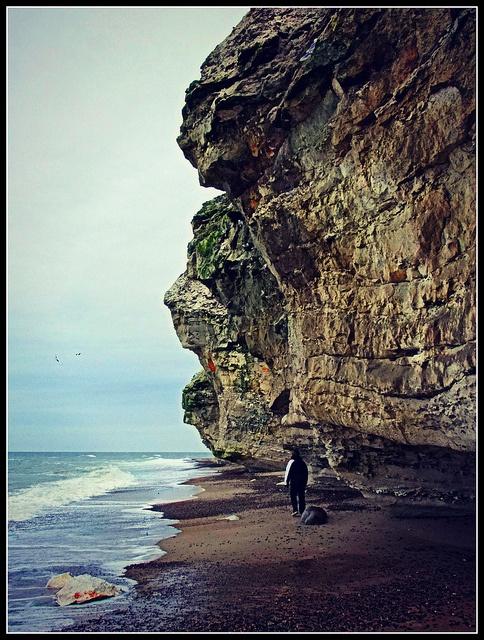 Walking Beneath Bulbjerg Bird Cliff