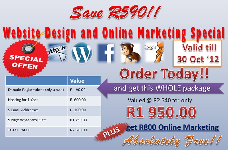 Freelance Express Website Design and Online Marketing Special