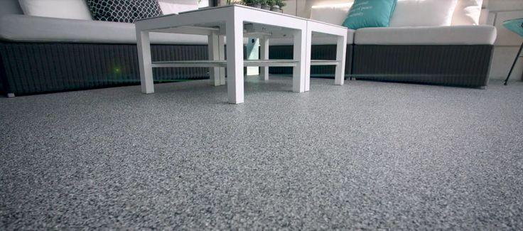 Plancher de béton extérieur durable et au look sophistiqué.