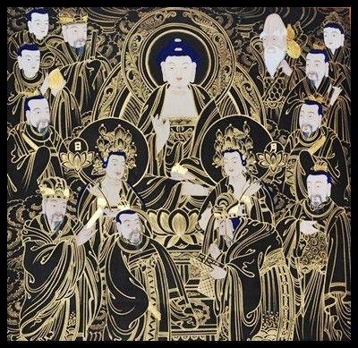 제주도 달마사에 모셔진 황금으로 그려진 탱화 불교에서 말하는 만(卍)자의 의미는?