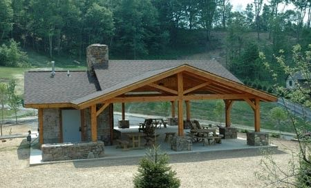 Gazebos, Outdoor Pavilion Structures and Gazebos, Picnic Shelters, Wood Pavilions, Timber Gazebos, Timber Pavilions