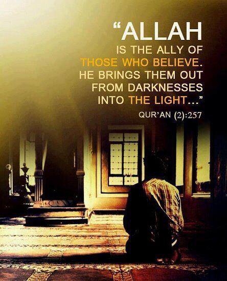 Allah brings us out from #darkness into #light
