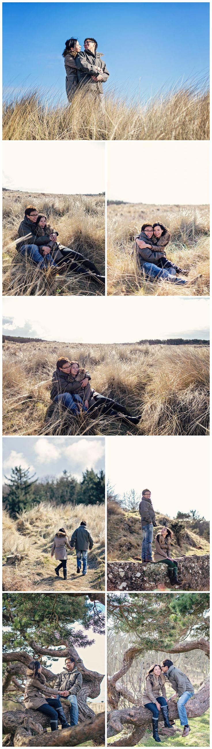 Engagement couple's portrait photography, Gullane beach near Edinburgh
