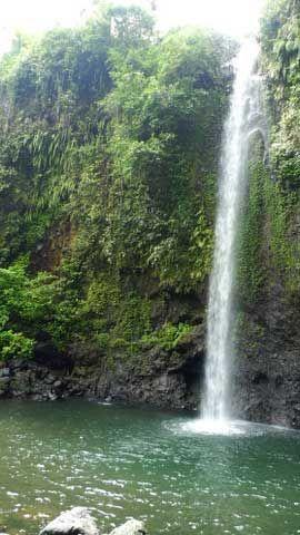 Curug Belot Waterfall in Baturaden, Purwokerto