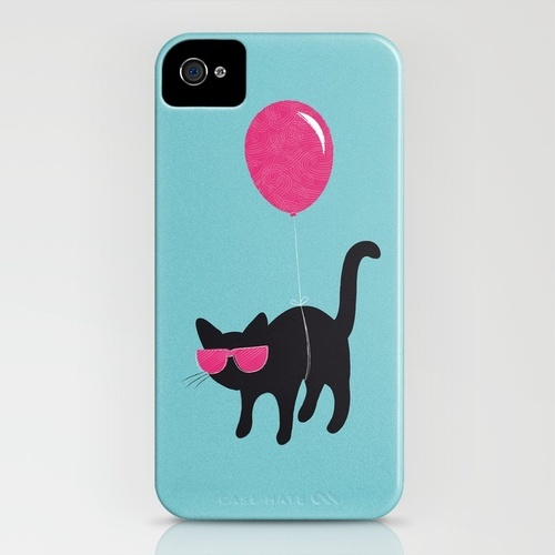 Cool Cat travels like this iPhone Case