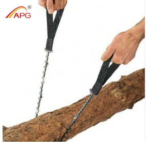 APG newest pocket chainsaw and outdoor camping chainsaw FREE GLOBAL SHIPPING -- Very Limited Quantity Available -- Get yours TODAY! Pocket chainsaw' advantages: 1, Sharp sawtooth, high efficiency in u
