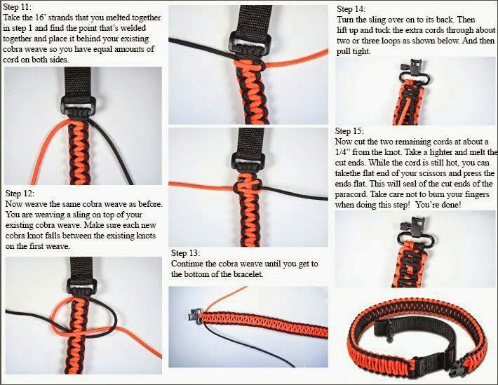 how to make a paracord gun sling part 3 paracord
