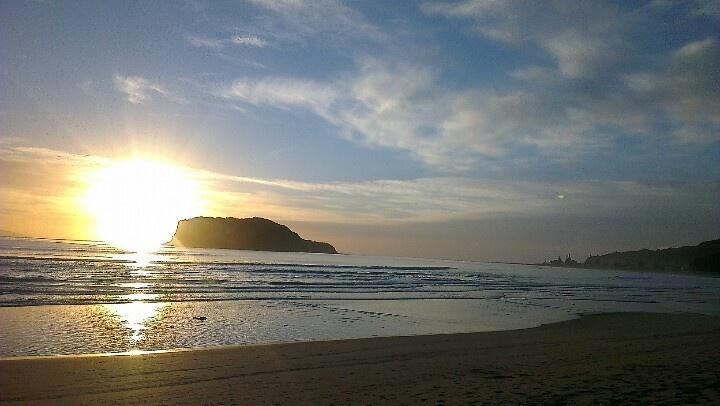 Sunrise in Whangamata New Years morning