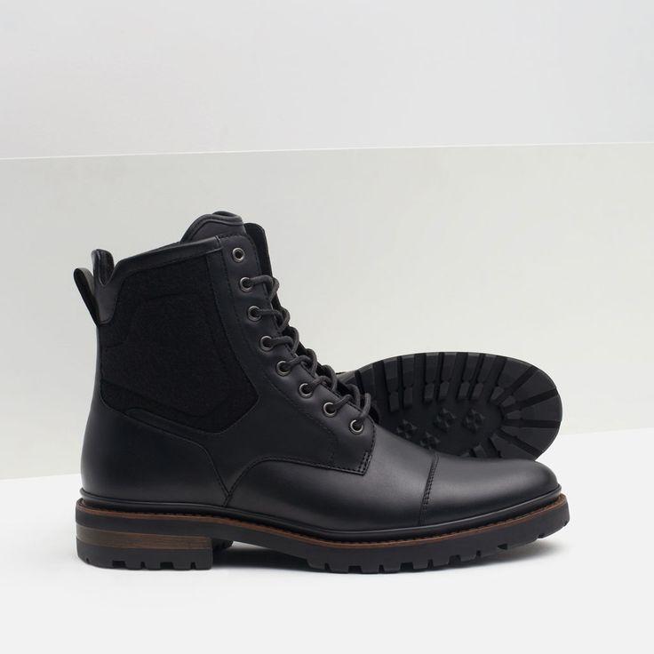 BOTA COMBINADA PISO DENTADO-Ver todo-Zapatos-HOMBRE   ZARA España