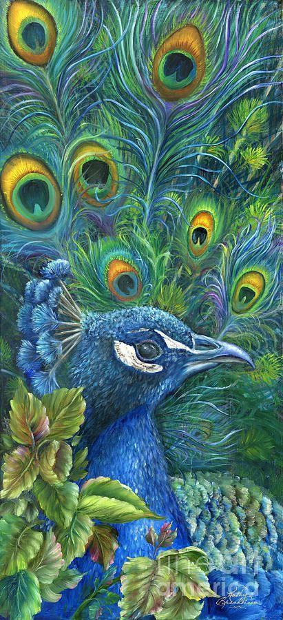 Peacock acrylic paintings - photo#31