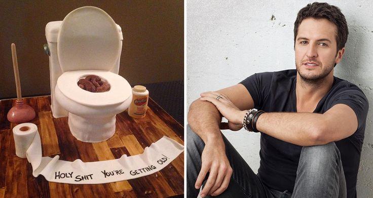 Luke Bryan S Wife Epically Trolls Him With Toilet Birthday