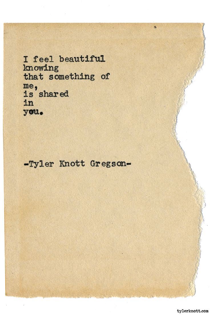 Typewriter Series #1799 by Tyler Knott Gregson