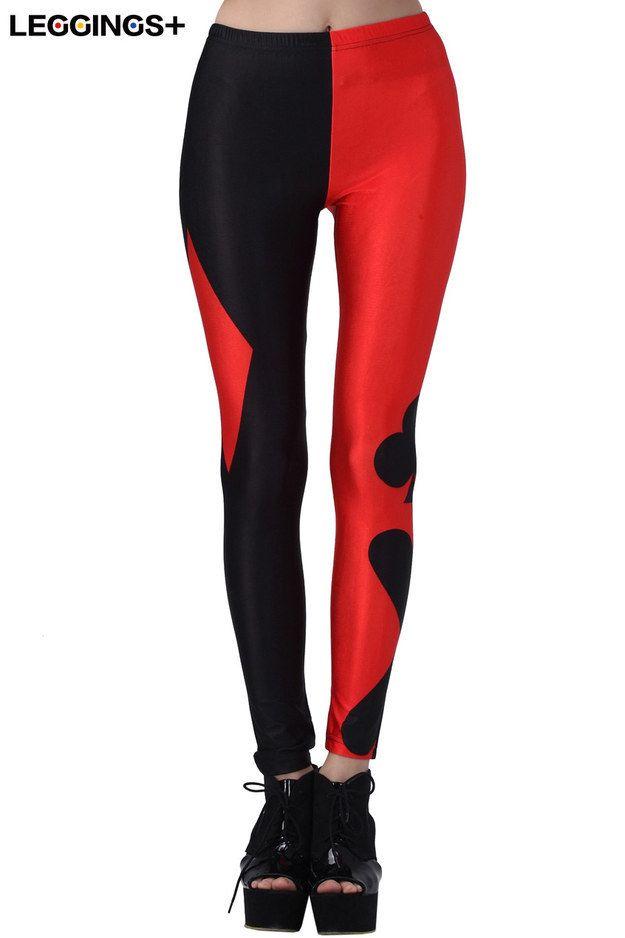 Batman Harley Quinn Poker Pattern Leggings | 17 Leggings Every Nerdy Girl Needs In Her Life