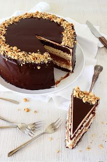 Chocolade-hazelnoottaart