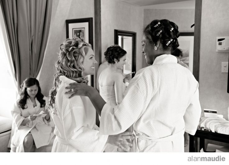 Banff Springs Hotel, Queen Elizabeth Suite, bride getting ready.  Banff, AB