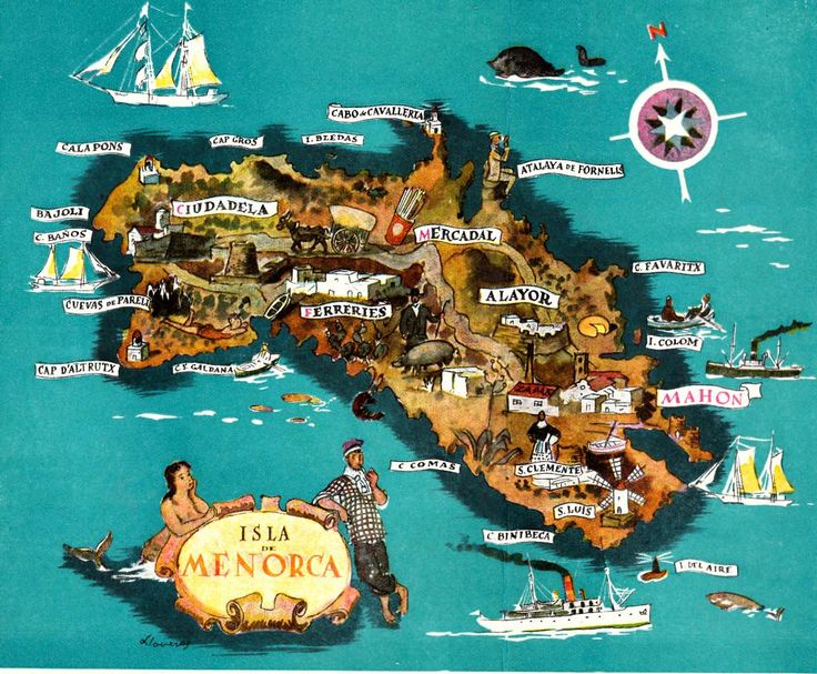 Mapa Antiguo De Menorca