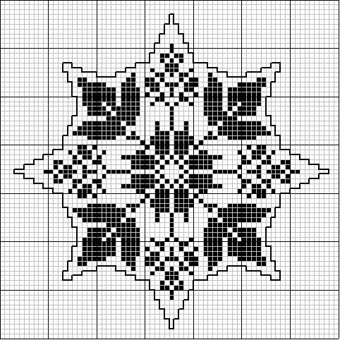 Octogonal 04 | Free chart for cross-stitch, filet crochet | gancedo.eu