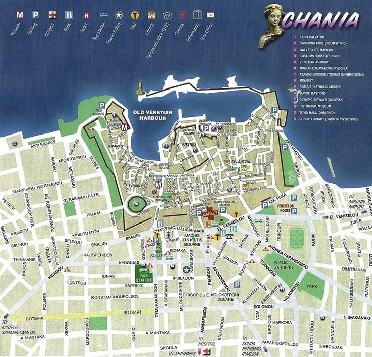 Chania City Map