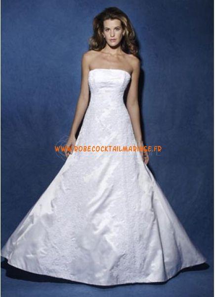 Robe de mariage avec traîne 2012 blanche broderies satin
