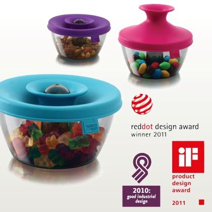 Vacu vin – PopSome Candy and Nut (pote hermético rosa) :: DESIGN anyware