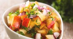 Take your salsa game up a few notches with this amazing peach salsa recipe, only found on Southern Kitchen.