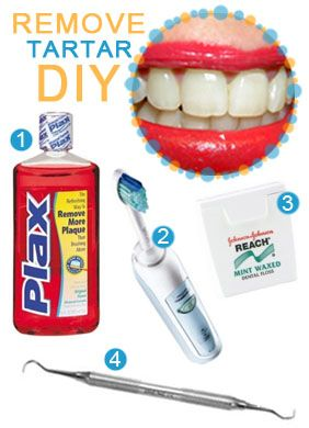 How to get rid of tartar and buildup from your teeth. #beauty #diy