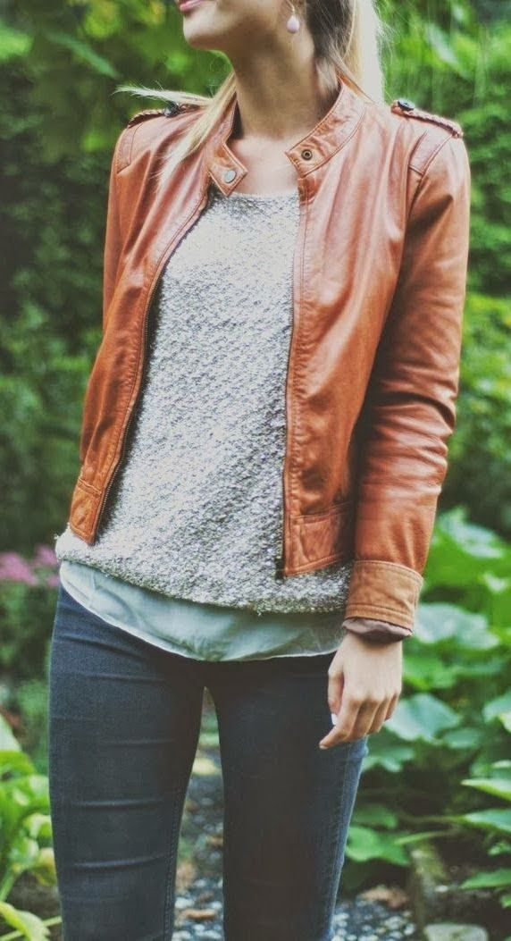 Fall Fashion With Jacket With Sweater And Loose Top